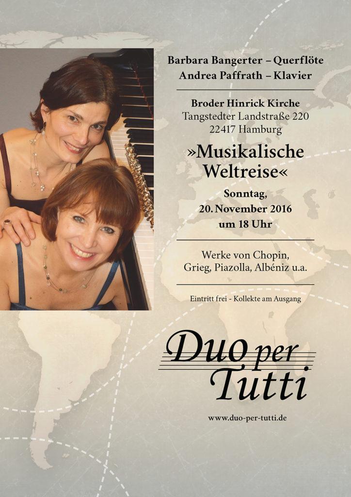 """Plakat """"Weltreise"""""""